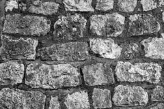 La parete esterna di grandi pietre Immagini Stock