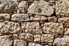 La parete esterna di grandi pietre Fotografie Stock