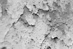 La parete incrinata della facciata, in bianco e nero Fotografie Stock