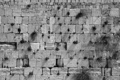 La parete lamentantesi in bianco e nero Immagine Stock