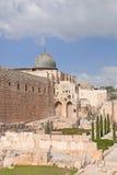 La parete lamentantesi di Gerusalemme Fotografia Stock