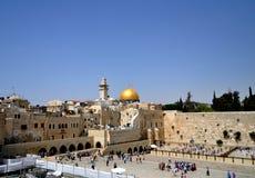 La parete lamentantesi di Gerusalemme Immagini Stock Libere da Diritti