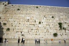 La parete lamentantesi Gerusalemme fotografie stock libere da diritti