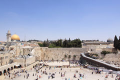 La parete lamentantesi, Gerusalemme, Israele Immagine Stock Libera da Diritti