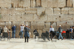 La parete lamentantesi, Gerusalemme - Israele Immagini Stock Libere da Diritti