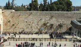 La parete lamentantesi, Gerusalemme - Israele Immagine Stock
