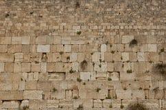 La parete lamentantesi, parete occidentale a Gerusalemme Fotografia Stock Libera da Diritti