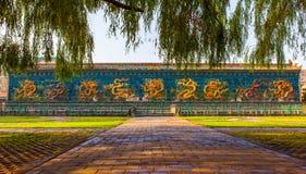 La parete (lunga) del Nove-drago di Datong. Fotografia Stock Libera da Diritti