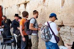 La parete occidentale anche conosciuta come la parete lamentantesi o Kotel in Jerusal Fotografie Stock Libere da Diritti