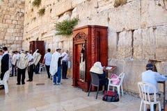 La parete occidentale anche conosciuta come la parete lamentantesi o Kotel in Jerusal Immagini Stock