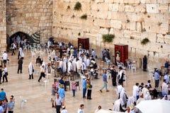 La parete occidentale anche conosciuta come la parete lamentantesi o Kotel in Jerusal Immagine Stock