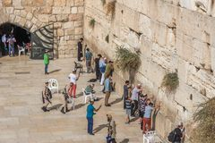 La parete occidentale o parete lamentantesi, Gerusalemme, Israele fotografia stock libera da diritti