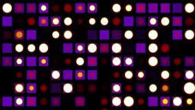 La parete senza cuciture della discoteca del ciclo accende il fondo di animazione di lampeggiamento - variopinto animato dinamico illustrazione vettoriale