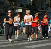 La Parisienne 2007 del maratón Imágenes de archivo libres de regalías
