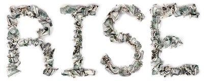 Aumento - fatture unite 100$ Fotografia Stock Libera da Diritti