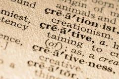 La parola creativa Immagine Stock