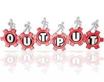 La parola dell'uscita innesta i risultati di lavoro di produttività della gente Immagine Stock