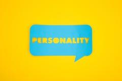 La parola di personalità in nuvola Fotografia Stock