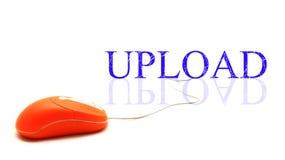 La parola di Upload ha connesso con il mouse del pc Immagini Stock