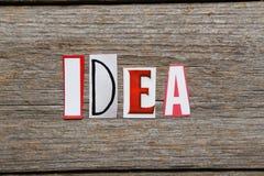 La parola IDEA Fotografia Stock Libera da Diritti