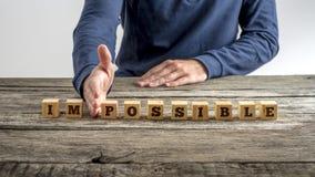 La parola impossibile - possibile immagine stock libera da diritti
