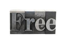 La parola ?libera? nel tipo del metallo Fotografia Stock Libera da Diritti