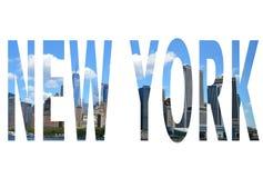 La parola New York Fotografie Stock