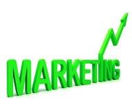 La parola verde di vendita significa le vendite e la pubblicità di promozione illustrazione di stock