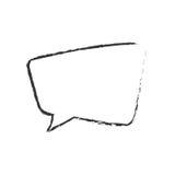 la parole de bulle de skecth parlent illustration libre de droits
