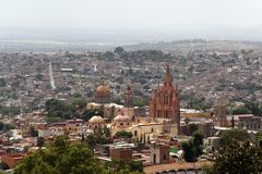 La Parroquia Church San Miguel Allende Stock Photography