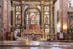 La Parroquia de San Miguel Arcángel i San Miguel Arkivfoton