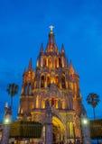 La parroquia DE San Miguel arcangel Stock Foto's