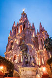 La Parroquia, the famous pink church in the picturesque town of Royalty Free Stock Images