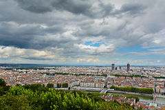 La Part Dieu building and view of Lyon city, Lyon, France Royalty Free Stock Photography