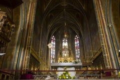 La parte anteriore si altera della chiesa (basilica) di St Peter e di St Paul a Vysehrad Immagini Stock Libere da Diritti