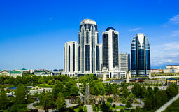 La parte centrale della città di Groznyj Fotografia Stock Libera da Diritti