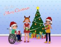 La parte Cristmas para el Special necesita a niños Imagenes de archivo
