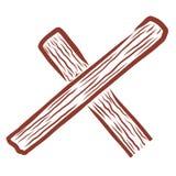 La parte de la cruz de madera es similar a la letra x ilustración del vector