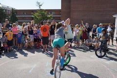 La parte 2 37 del festival del Unicycle de 2015 NYC Fotos de archivo libres de regalías