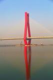 La parte del ponte di cavo Fotografie Stock