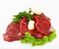 La parte della bistecca di raccordo grezza Immagini Stock Libere da Diritti