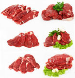 La parte della bistecca di raccordo grezza Fotografie Stock Libere da Diritti