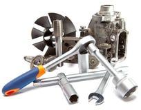 La parte della pompa ad alta pressione dell'automobile e dello strumento per la riparazione Immagine Stock Libera da Diritti