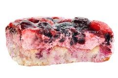 La parte della torta della frutta Fotografia Stock
