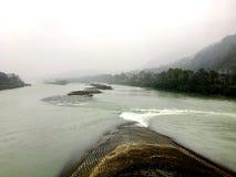 La parte di bocca del pesce della diga di Dujiangyan in Sichuan, Cina Immagine Stock Libera da Diritti