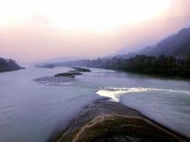 La parte di bocca del pesce della diga di Dujiangyan in Sichuan, Cina Fotografie Stock