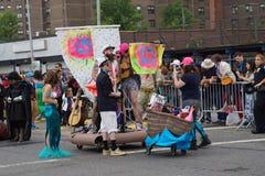 La parte 2015 di parata della sirena 6 51 Fotografie Stock Libere da Diritti