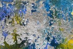 La parte di una parete dipinta Immagine Stock Libera da Diritti