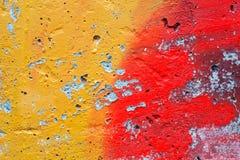 La parte di una parete dipinta Fotografia Stock