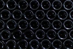 La parte inferior de las botellas de vino en sótano Fotos de archivo libres de regalías